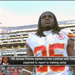 Running back Jamaal Charles agrees to new contract with the Kansas City Chiefs