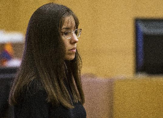 Jodi Arias  testifies  in Maricopa County Superior Court in downtown Phoenix Monday March 4, 2013.  Arias is on trial for the murder of Travis Alexander in 2008. (AP Photo/The Arizona Republic, Tome Tingle, POOL)