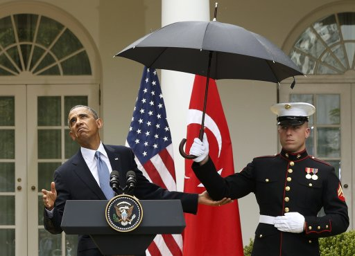 obama and marine