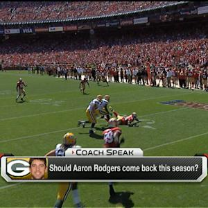 When should Aaron Rodgers come back?