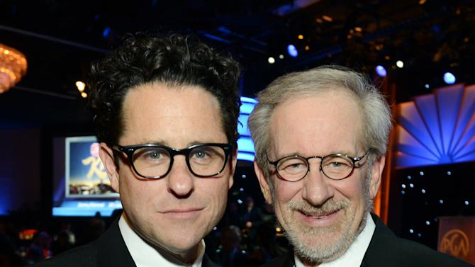 J.J. Abrams, left, and Steven Spielberg are seen in the audience at the 24th Annual Producers Guild (PGA) Awards at the Beverly Hilton Hotel on Saturday Jan. 26, 2013, in Beverly Hills, Calif. (Photo by Jordan Strauss/Invision for Producers Guild/AP Images)