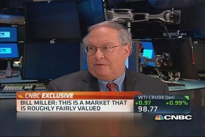 Bill Miller: Market roughly fairly valued