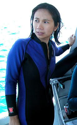 Producer Laura Lau during the filming of Lions Gate's Open Water