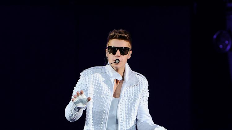 Singer Justin Bieber performs at the Prudential Center in Newark, N.J. on Wednesday, July 31, 2013. (Photo by Evan Agostini/Invision/AP)