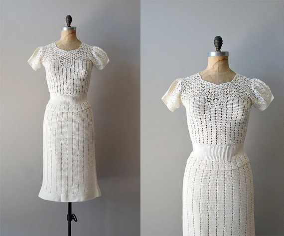 Vintage Crocheted Dress