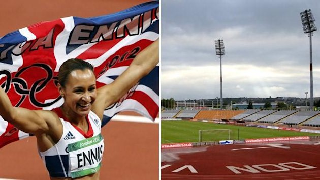 Jessica Ennis and Don Valley stadium (PA Photos)