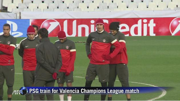 PSG train ahead Valencia Champions League clash