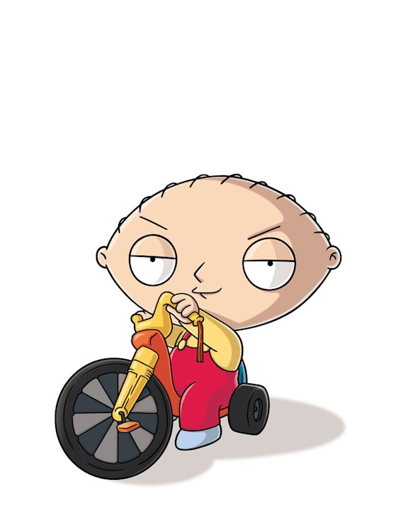 "Stewie (voiced by Seth MacFarlane) stars on ""The Family Guy."""
