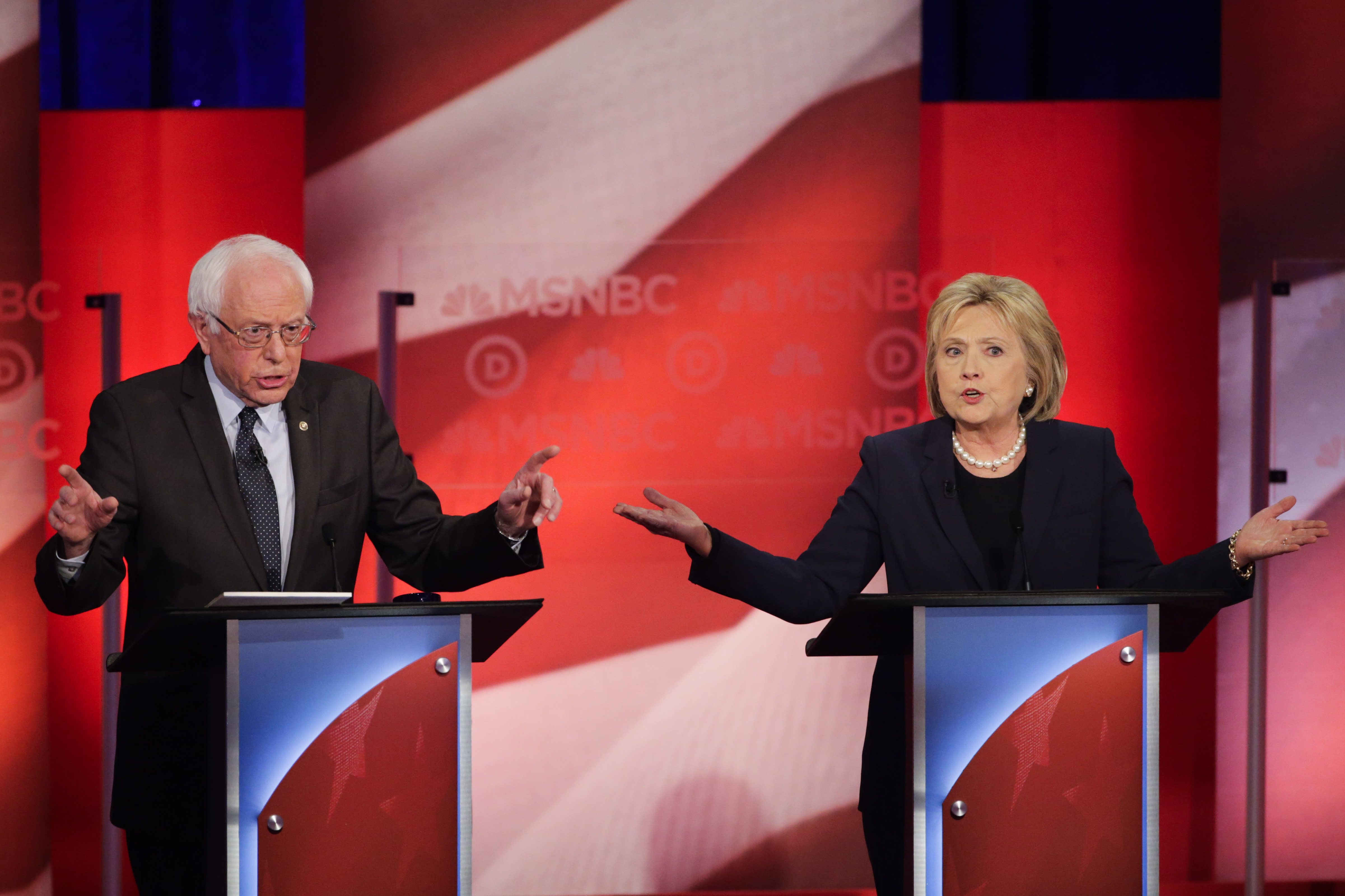 Hillary Clinton and Bernie Sanders are going to war as she tries to protect her 'firewall'