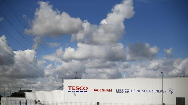 Tesco's new distribution facility is seen in Dagenham, east London