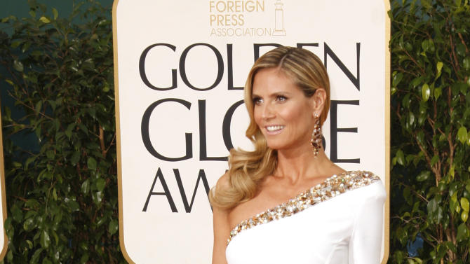Model and TV personality Heidi Klum at the 70th annual Golden Globe Awards in Beverly Hills