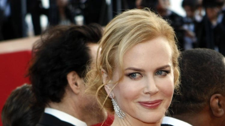 Actress Nicole Kidman arrives for the screening of The Paperboy at the 65th international film festival, in Cannes, southern France, Thursday, May 24, 2012. (AP Photo/Lionel Cironneau)