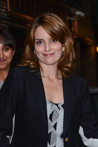 Tina Fey leaves the 'Late Show With David Letterman' taping at the Ed Sullivan Theater, NYC, on October 3, 2012 -- Getty Images
