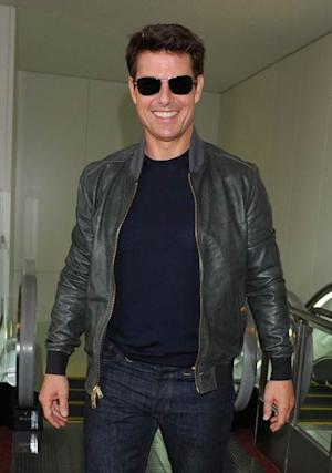 Tom Cruise is seen upon arrival at Tokyo International Airport on May 6, 2013 in Tokyo -- Getty Premium