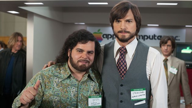 Josh Gad as Steve Wozniak and Ashton Kutcher as Steve Jobs
