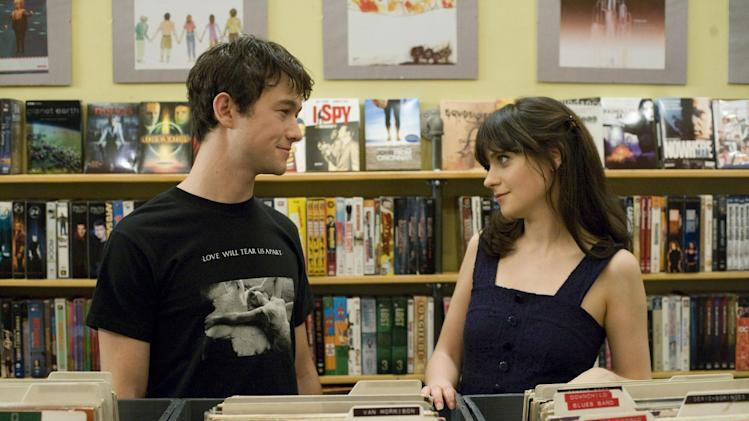 "This publicity film still released by Fox Searchlight shows Joseph Gordon-Levitt, left, and Zooey Deschanel in a scene from ""500 Days of Summer."" (AP Photo/Fox Searchlight, Chuck Zlotnick, File) ** NO SALES **"