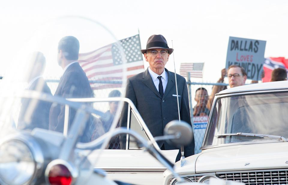 "This film image released by Exclusive Media Entertainment shows Billy Bob Thornton as Forrest Sorrels, the head of the Secret Service in Dallas, in a scene from ""Parkland."" (AP Photo/ Exclusive Media Entertainment, Claire Folger)"