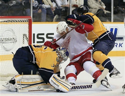 Weber scores twice in 3rd as Predators top Detroit