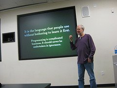 Douglas Crockford presenting with style