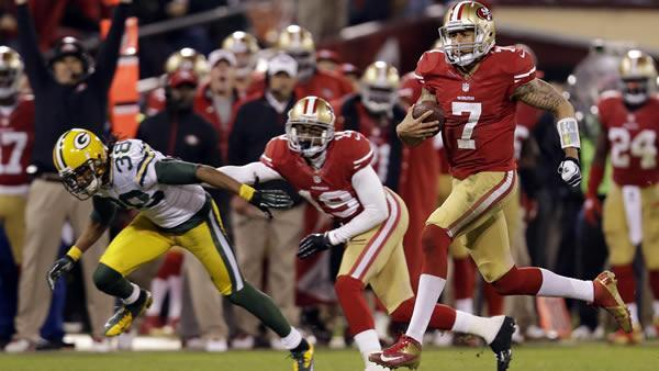 Kaepernick gives 49ers new look in NFC title game