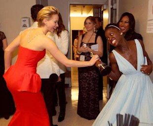 Jennifer Lawrence and Lupita Nyong'o