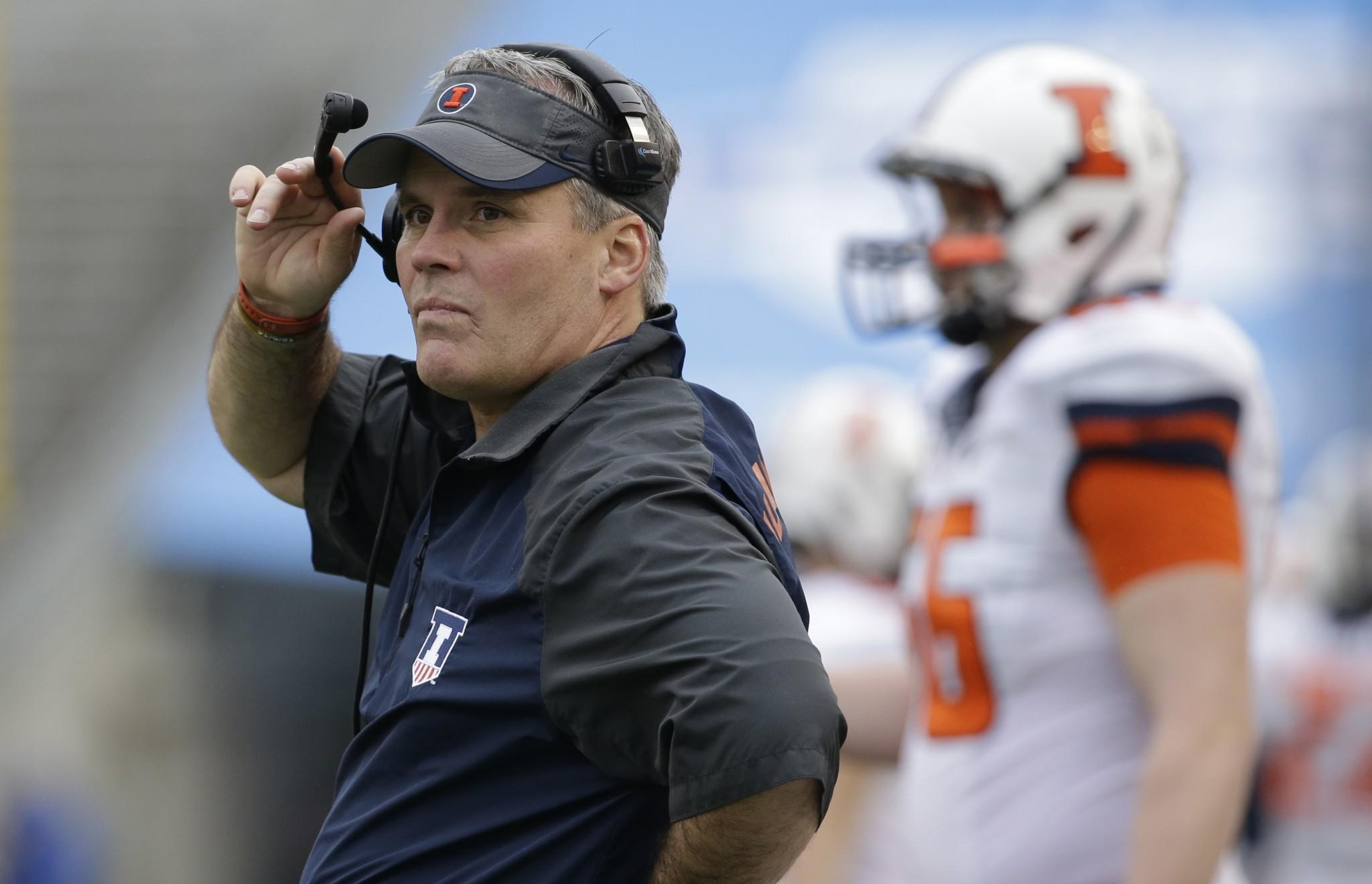 Former Illinois coach Tim Beckman now a volunteer at UNC