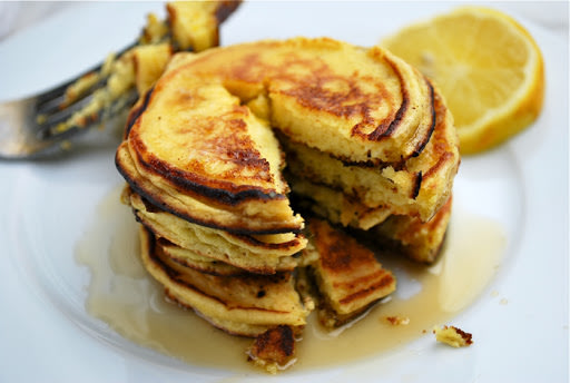 Meyer Lemon Ricotta Pancakes