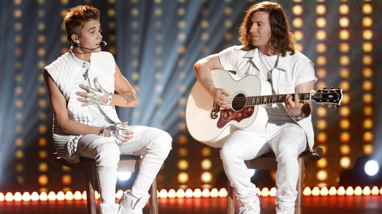 Singer Justin Bieber performs during the Victoria's Secret Fashion Show in New York