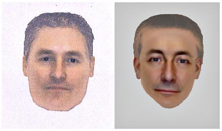 A combination photo shows two e-fit images released by the Metropolitan Police on October 14, 2013 of a man they want to identify and trace in connection with their investigation into the disappearance of Madeleine McCann. REUTERS/Metropolitan Police/Handout