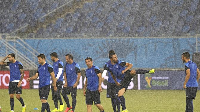 Greece players say goals will come at World Cup