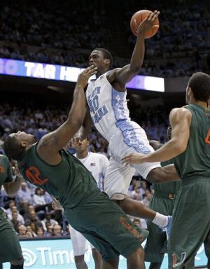 No. 3 North Carolina beats Miami 73-56
