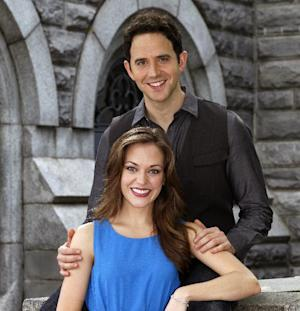 """This undated image released by Sam Rudy Media Relations shows actors Laura Osnes and Santino Fontana in New York. Osnes and Fontana will star in the Rodgers and Hammerstein's """"Cinderella.""""  (AP Photo/Sam Rudy Media Relations, Carol Rosegg)"""
