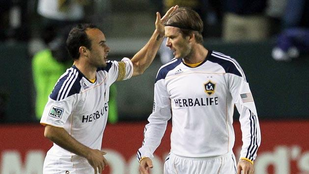 Landon Donovan and David Beckham