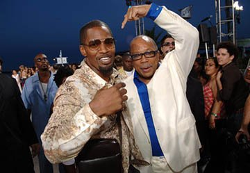 Jamie Foxx and Quincy Jones