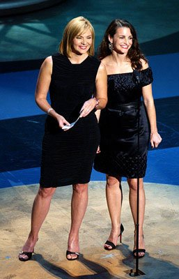 Kim Cattrall and Kristin Davis 53rd Annual Emmy Awards - 11/4/2001