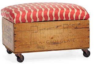 Wheeled Storage Bench