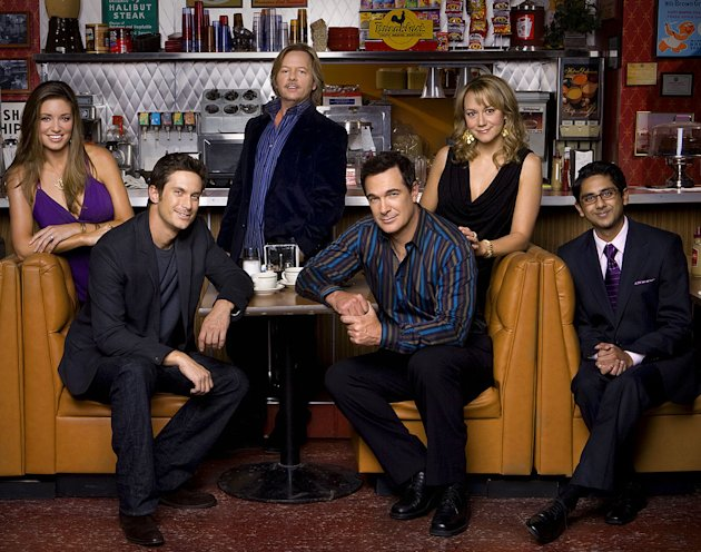 The cast of &quot;Rules of Engagement.&quot; 