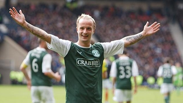 Leigh Griffiths has been named Clydesdale Bank Premier League Player of the Year