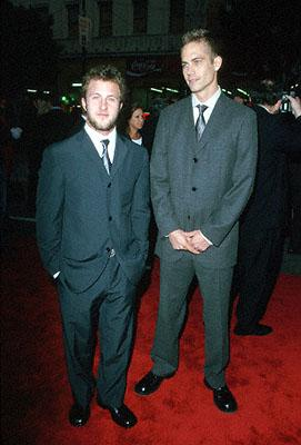 Scott Caan and Paul Walker at the premiere of Warner Brothers' Ready To Rumble