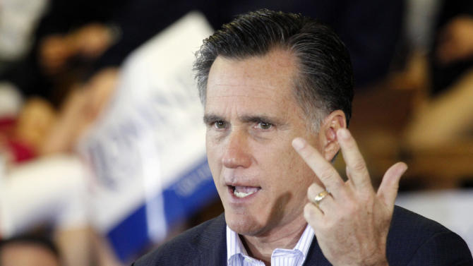 Republican presidential candidate, former Massachusetts Gov. Mitt Romney speaks at the Mississippi Farmers Market in Jackson, Miss., Friday, March 9, 2012. (AP Photo/Rogelio V. Solis)
