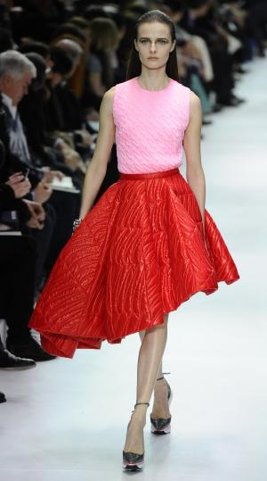 Aodels wears a creation for Dior's ready-to-wear …