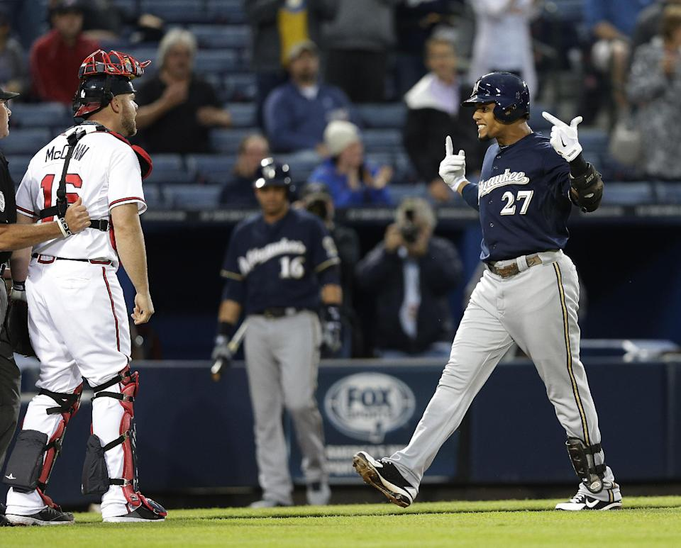 Brewers' Gomez, Braves' Johnson suspended 1 game