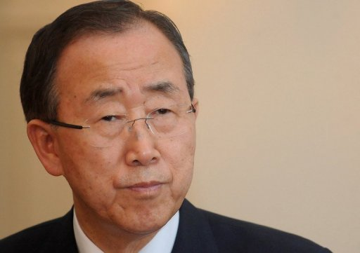 "<p>UN chief Ban Ki-moon, pictured on July 25, made a last-ditch effort Thursday to break the deadlock over a landmark treaty to regulate the conventional arms trade, urging countries to ""show flexibility.""</p>"
