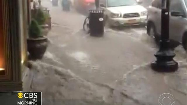 Heavy downpours flood parts of N.Y., N.J.