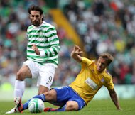Celtic's Georgios Samaras helped Celtic ease into the Champions League play-offs
