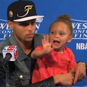 Steph Curry's Daughter Riley Is Still The Cutest Thing In The NBA