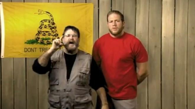 """""""We are real Americans and we believe in the First Amendment,"""" say wrestlers Zeb Colter and Jack Swagger."""