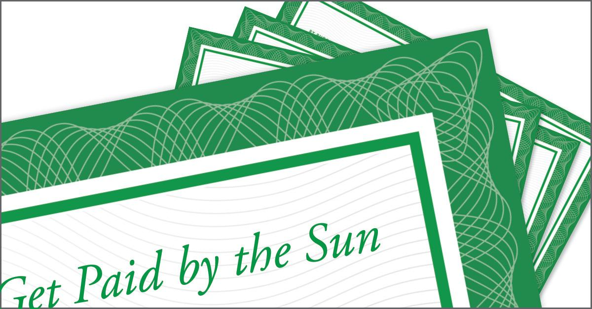 Solar Bonds: Get paid by the sun. Learn more...