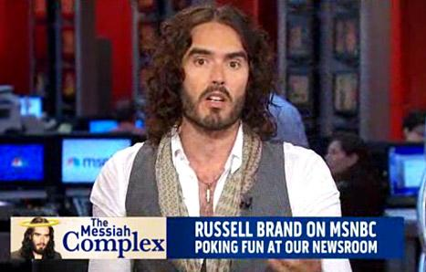 "Russell Brand Mocks MSNBC Anchors, Teaches Them a Lesson in ""Good Manners"""