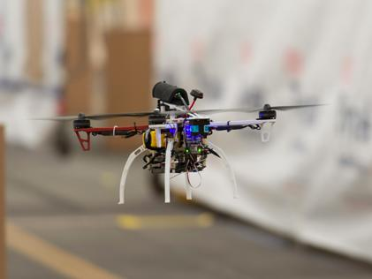 Watch this tiny DARPA drone fly 45 mph through a warehouse